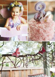 butterfly fairy birthday party with twig name garland