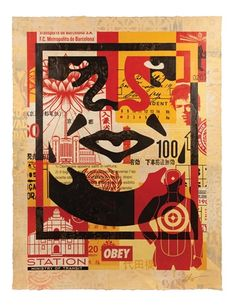 View Icon Collage Bottom by Shepard Fairey on artnet. Browse more artworks Shepard Fairey from Galerie Ernst Hilger. Stencil Printing, Stencil Art, Shepard Fairey Art, Institute Of Contemporary Art, Global Art, Street Artists, Print Artist, Art Market, Cannabis