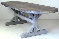 Zinc banded oval table!