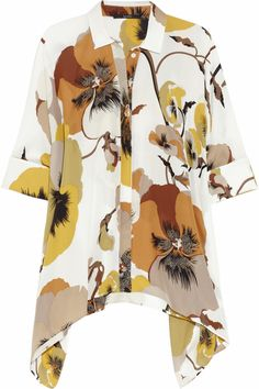 GUCCI  Printed silk blouse