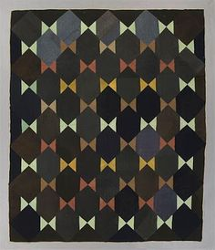 """This """"Floating Star Quilt"""" is featured on the University of Alberta (Canada) Museums site. No date is given for the creation of this quilt, but it is probably an antique. Similar to modern quilts too. Amische Quilts, Sampler Quilts, Star Quilts, Antique Quilts, Vintage Quilts, Vintage Sewing, Quilting Projects, Quilting Designs, Neutral Quilt"""