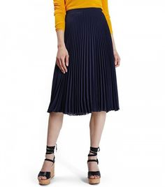Topshop Chiffon Pleated Midi Skirt