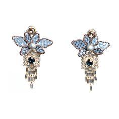 Tataborello blue swarovski earrings