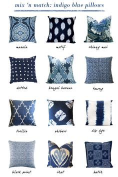 INDIGO Blue Pillow Obsessed - Erika Brechtel
