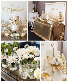 Elegant Gold + White Baptism Party via Kara's Party Ideas KarasPartyIdeas.com #goldandwhitebaptismdesserttable (2)