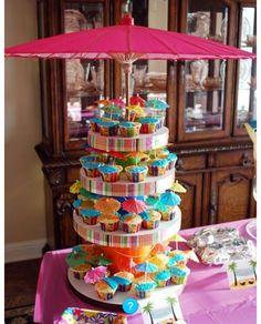 Luau Centerpiece Decorations Ideas Throw a Beachy-Theme Bridal Shower @ Leslie's Life Hawaiian Birthday, Luau Birthday, Summer Birthday, Birthday Parties, Moana Birthday, Hawaiian Leis, Hawaiian Theme, Tiki Party, Luau Party