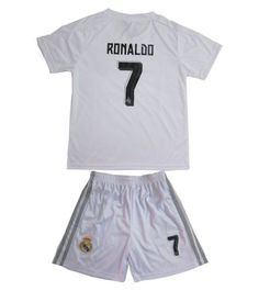 Real  madrid kids boys  football kit home cr7  soccer jersey and shorts + a270f48dfccf