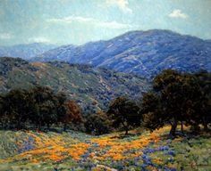 Irvine Museum | Masterpieces of California Art-Granville Redmond Flowers Under the Oaks, c. 1925 Oil on canvas 20 x 25 inches The James Irvine Swinden Family Collection--Exhibit-dates-October 15, 2016-January 19, 2017-Irvine Museum, California