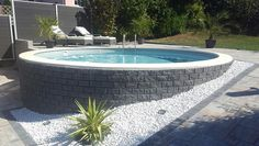 de - Build your own pool! We can help you with that!de – Build your own pool! We can help you with that! Pool Spa, Diy Pool, Backyard Pool Designs, Pool Landscaping, Above Ground Pool, In Ground Pools, Build Your Own Pool, Semi Inground Pools, Cheap Pool