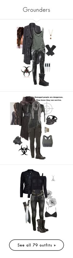"""Grounders"" by gone-girl ❤ liked on Polyvore featuring the100, grounders, Grounder, Biya, Balmain, Wet Seal, Stussy, Bee Charming, Karl Donoghue and Liebeskind"