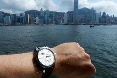 On the ferry boat heading to Hong Kong with the Zeitwinkel Ferry Boat, Hong Kong, Travelling, Watches, Silver, Leather, Accessories, Money, Clocks