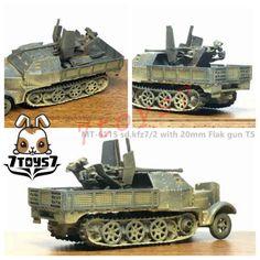 Metal-Troops-6115-1-144-sd-kfz-7-2-with-20mm-Flak-gun-Transport-German-MT007B
