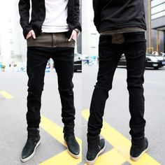 Splice Slim Fit Thickening Jeans