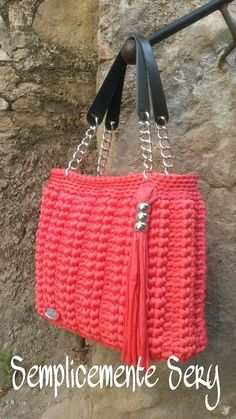 Crochet bolsos y carteras on pinterest crochet bags for Bolsos de crochet de trapillo