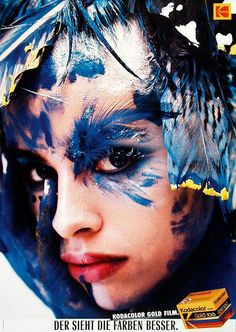 Hans Feurer, photography for poster campaign Kodacolor gold film, 1988. Young & Rubicam, Switzerland.