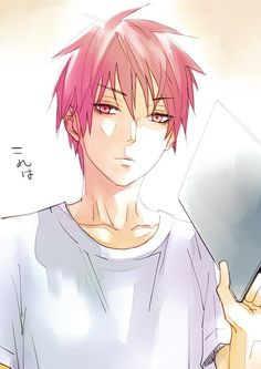 "Akashi being like ""Not sure if I should hit you with this board or not..."" 