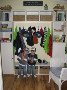Ikea BILLY Mudroom for kids - cheap.