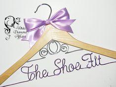 Cinderella Fairytale Coach Themed Wedding Dress Hanger, Personalized Disney Princess Bridal Hanger, Bridal Gift - Wire Name Hanger. $29,95, via Etsy.