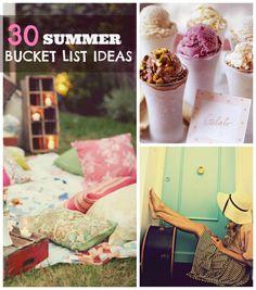 30 summer bucket list ideas