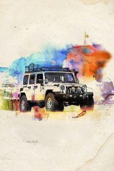 JEEP Wrangler Watercolor ART