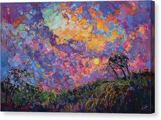 Turning Color Canvas Print by Erin Hanson