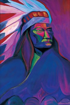 artistic native american imagery   Native American Pink And Green