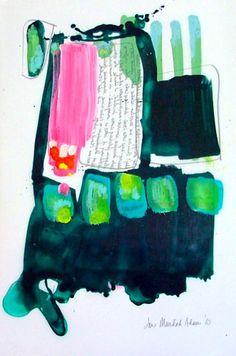 Jane Murdoch Adams | Bird Energy Bracing | Tornto Abstract Painter | Contemporary Canadian Artist