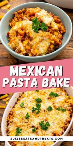 Hearty, comforting casserole loaded with ground beef, pasta, salsa, corn and topped with Mexican Cheese makes this Mexican Pasta Bake a delicious and easy dinner recipe that the entire family will pile high on their plates. #casserole #mexican Ground Beef Crockpot Recipes, Slow Cooker Ground Beef, Mexican Pasta, Mexican Cheese, Mexican Dishes, Pasta Casserole, Pasta Bake, Delicious Dinner Recipes, Yummy Recipes