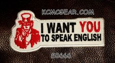 I WANT YOU Small Badge Patche for Vest jacket SB666