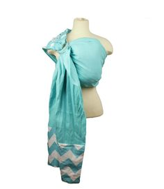 Linen Ring Sling Baby Carrier Baby Sling - Blue Chevron