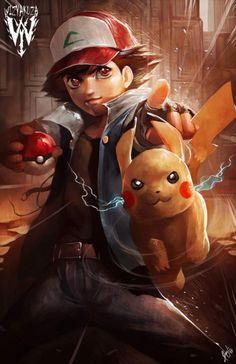 Ash and Pikachu by Ceasar Ian Muyuela