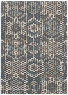 Synthetic Rugs, Geometric Rug, Trendy Colors, Modern Rugs, Comfort Zone, Shades Of Blue, Wool Rug, Contemporary Design, Mosaic