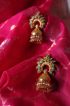 #gold #plated #occasion #statement #accessories #turquoise #silver #festive #dressy #glam #Fabindia #earrings #jewellery