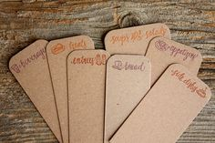 Letterpress Recipe DIVIDERS ONLY by 1canoe2 on Etsy, $15.00