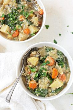 Hearty and comforting, this slow cooker creamy veggie & wild rice soup is like a hug in a bowl! And it's healthy too!