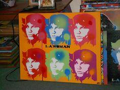 doorslawomanstencil artpop art on canvas by AbstractGraffitiShop, $80.00