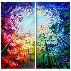 Abstract Painting Art Oil Painting Canvas colorful Modern Home Original Landscape painting Forest skyline Art black n by elseartOriginal Landscape painting Forest skyline Art black n by elseart Easy Canvas Painting, Canvas Art, Painting Art, Painting Abstract, Painting People, Skyline Art, Oil Painting Flowers, Expo, Art Plastique