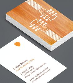 guitar instructor Business Card Design