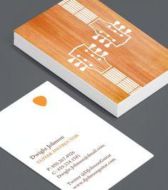 guitar instructor Business Card Design