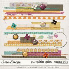 Pumpkin Spice: Extra Bits by Amber Shaw  digital scrapbook