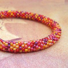 Morning Sky Jewelry and Creations: Bead Crochet Bangle Bracelets