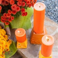 "Now is the season to celebrate in ""Orange Style"" with Halloween and Fall, these Orange candles can be used from now until Thanksgiving! hours of burn time!"