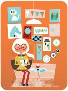 A time to read / Un rato para leer (ilustración de Leah Greenberg)
