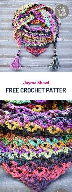 Jayma Shawl Free Crochet Pattern #crochet #yarn #fashion #style