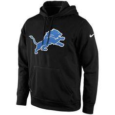 Men s Detroit Lions Nike Black KO Logo Essential Hoodie Detroit Lions  Sweatshirt caff366e5