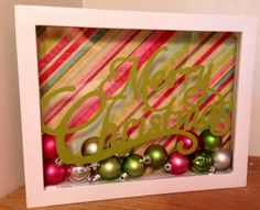 Howto Make ShadowBox with Vinyl and Cricut Artrist Cartridge - Super easy holiday decor all part of the http://www.AboveRubiesStudio.com 12 Days Holiday Extravaganza!!! Come on over and win lots of prizes, learn fantastic ideas and save on major deals!