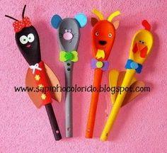 wooden spoon puppet, animals - dias das maes 2 - elinete bonfim minto google plus