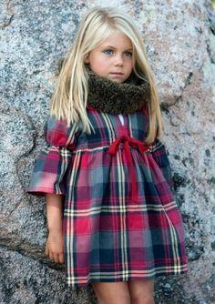 festliche kindermode mädchen kariertes kleid