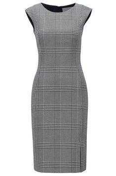26a3ff79 BOSS - Slim-fit jurk van stretchmateriaal met prince-of-wales-ruit. Hugo  BossOffice WearBodycon ...