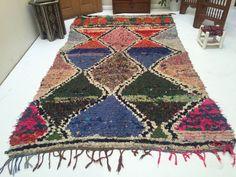 Boucherouite 5x9 Vintage Tribal Azilal Rug Azilal Boucherouite Moroccan Boucherouite Rug Bohemian Berber Weave Teppich Berber Tapis Moroccan